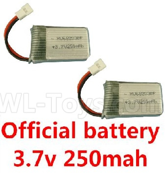 Wltoys V911S 3.7v 250mah battery(2pcs)-V966.016,Wltoys V911 Parts