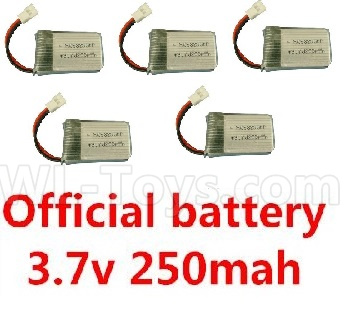 Wltoys V911S 3.7v 250mah battery(5pcs)- V966.016,Wltoys V911 Parts