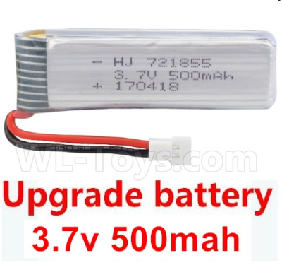 Wltoys V911S Upgrade 3.7v 500mah 25C battery(1pcs)-58X17x8mm-Weight-14g,Wltoys V911 Parts