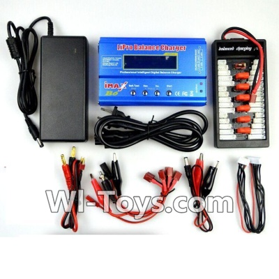 Wltoys V950 RC Helicopter Parts-Upgrade Charger unit,Can charger 6x battery at the same time(Power & B6 Charger & 1-To-6 Parallel charging Board),Wltoys V950 Parts
