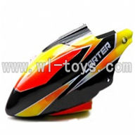 WLtoys V911 RC Helicopter Parts-Head Cover,Canopy parts-(black&orange),WLtoys V911 RC Helicopter Parts