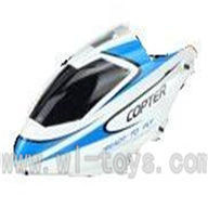 WLtoys V911 RC Helicopter Parts-Head Cover,Canopy parts-(blue&white),WLtoys V911 RC Helicopter Parts