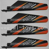 WLtoys V911 RC Helicopter Parts-Main blades,Main rotor blades,Propellers-(4pcs)-Orange