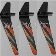 WLtoys V911 RC Helicopter Parts-Vertical wing (3pcs)-Orange