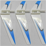 WLtoys V911 RC Helicopter Parts-Vertical wing (3pcs)-Blue