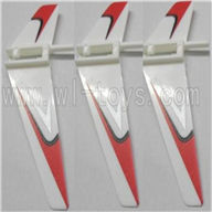 WLtoys V911 RC Helicopter Parts-Vertical wing(3pcs)-Red