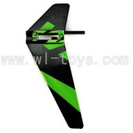 WLtoys V911 RC Helicopter Parts-Vertical wing (1pcs)-Green