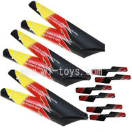 WLtoys V913 RC Helicopter Parts Crash set 4(6x Main blades,6x Tail blades),WLToys V913 Parts