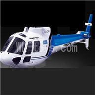 WLtoys V931 RC Helicopter Parts-Front head cover & Back body cover-Blue,WLtoys AS350 Parts