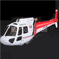 WLtoys V931 RC Helicopter Parts-Front head cover & Back body cover-Red,WLtoys AS350 Parts