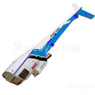 WLtoys V931 RC Helicopter Parts-Back body cover-Blue,WLtoys AS350 Parts