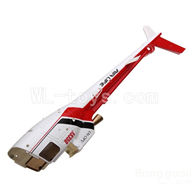 WLtoys V931 RC Helicopter Parts-Back body cover-Red,WLtoys AS350 Parts