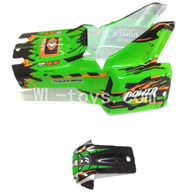 WLtoys L959 RC Car Parts-Car Canopy,Car shell Parts-Green