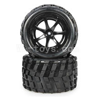 WLtoys L969 RC Car Parts-RC Buggy Rear Tire Parts-2pcs