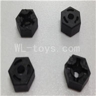WLtoys L969 RC Car Parts-Hexagon Wheel Seat Parts-4pcs