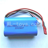 WLtoys L969 Upgrade Parts-Upgrade 2200mAh-7.4v-Red-JST-Plug-Battery(Can only be used for L959)