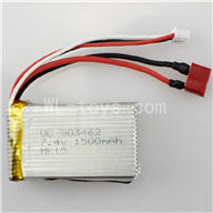 WLtoys L969 RC Car Parts-Battery-7.4v 1500mah battery with T shape Plug(Can be Used for L969 L202)
