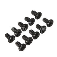 WLtoys L969 RC Car Screws Parts-Round Head Screws Parts-Set 1.8x3mm-10pcs