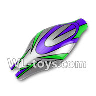 WLtoys V666 Drone Parts-Canopy Parts,Head cover,body shell cover-(Green&Purple&Gray)