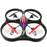 WLtoys V666 Drone Parts-V666 Quadcopter BNF(Only Quadcopter Body,No battery,No transmitter,No charger)-Red&Blue
