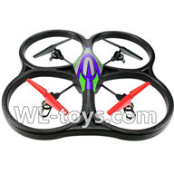 WLtoys V666 Drone Parts-V666 Quadcopter BNF(Only Quadcopter Body,No battery,No transmitter,No charger)-Green&Purple