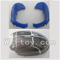 WLtoys V915 RC Helicopter Parts-Bottom shell cover