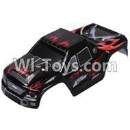Wltoys A979 RC Car Body Shell Cover Parts,Car canopy,Shell cover-Black,Wltoys A979 Parts