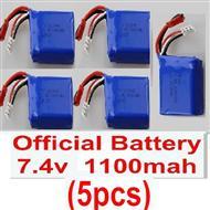 Wltoys A979 RC Car Parts-Battery-Official 7.4v 1100mah battery(5pcs),Wltoys A979 RC Batery Parts