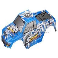 Wltoys 12402-0303 big foot car shells,Car canopy,Shell cover,Car canopy,Shell cover,Wltoys 12402 Parts