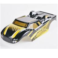 HBX 2128 Wildrider Parts-Body Shell Parts-yParts-Buggy Body Shell,Car shell-Yellow Parts-28B01
