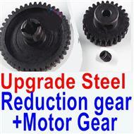 Wltoys A969-B A969B Car Upgrade Parts-Upgrade Steel Reduction gear+ Upgrade Steel Motor gear,Wltoys A969-B A969B Parts