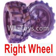 Wltoys 18402 RC Car Parts-Whole Right wheel unit(Include the Wheel hub,tire lether)-2 set-0929,Wltoys 18402 Parts