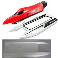 Wltoys WL915 Boat Parts-The Upper body shell cover-Red & The Middle and Bottom body shell cover,Wltoys WL915 Boat Parts
