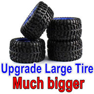 Wltoys 12428 RC Car Upgrade Tires-large Much biger,can be used for 12428 car or with Lengthened combiner-12mm