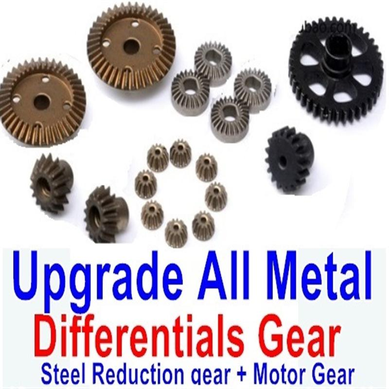 Wltoys A979 A979-B Upgrade All Metal Differentials Gear + Steel Reduction gear + Motor Gear(Only For A979 A979-B)