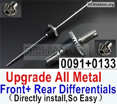 Wltoys 12427 Upgrade All Metal Front + Rear Differentials-2020 Version,Can Directly install,So Easy