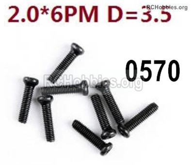 Wltoys 12427 Screws Parts-12427-0570 Screws-2X6PM