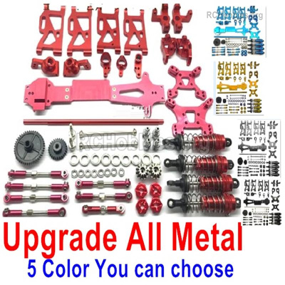 Wltoys 144001 Upgrade All Metal Assembly kit Parts for the 144001 Car.