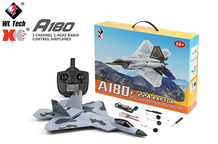 Wltoys XK A180 F22 Raptor RC Plane and Parts