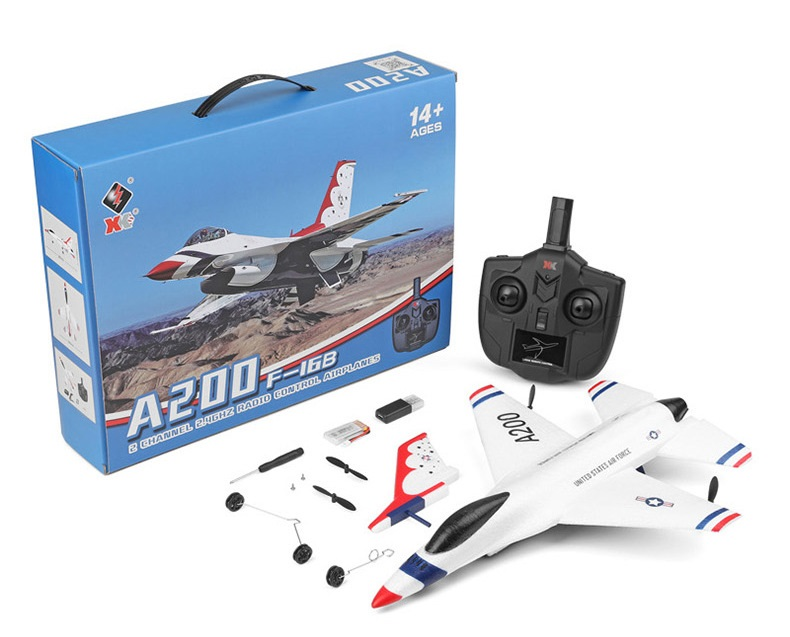 Wltoys XK A200 F-16B RC Plane and Parts