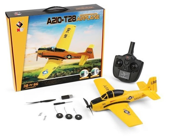 Wltoys XK A210 T28 RC Plane and Parts