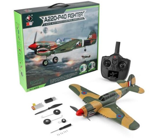 Wltoys XK A220 P40 Fighter RC Plane and Parts