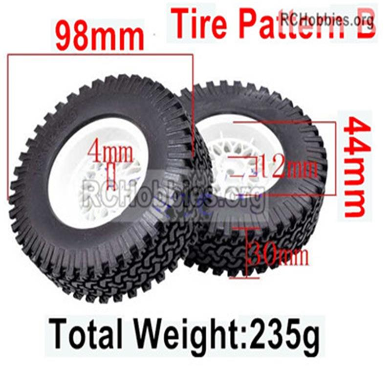 Wltoys 12427 Upgrade Military truck tires,More Big,More